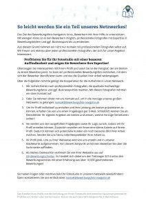 Kooperationsablauf Bewerbungsfoto-Navigator
