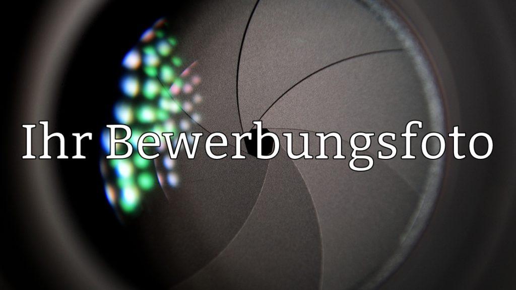 Bewerbungsfoto Linse Text